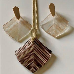 Kendra Scott Aislinn Gold Dusted Glass Necklace